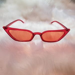 Orange 1950s Style Sunglasses
